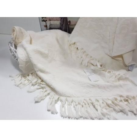 Набор из двух махровых полотенец Maison D'or Sanda 50х100 см + 85х150 см, крем