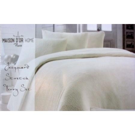 Махровое постельное белье Maison D`or Jakard 200x220см, крем