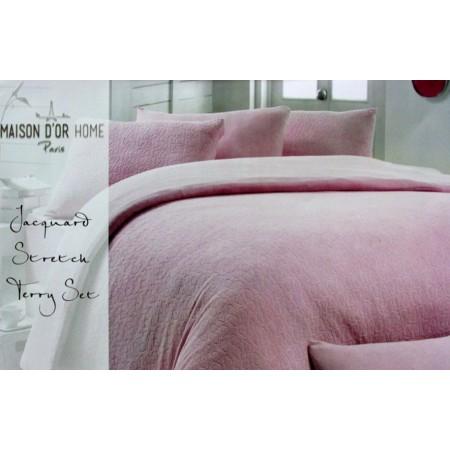 Махровое постельное белье Maison D`or Jakard 200x220см, сливовый