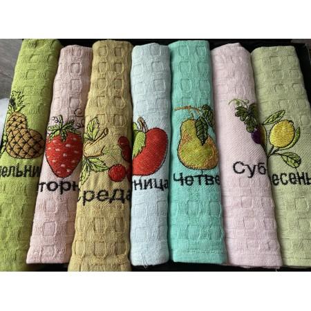 Набор вафельных полотенец Mercan Fruit Week 50*70 7 шт