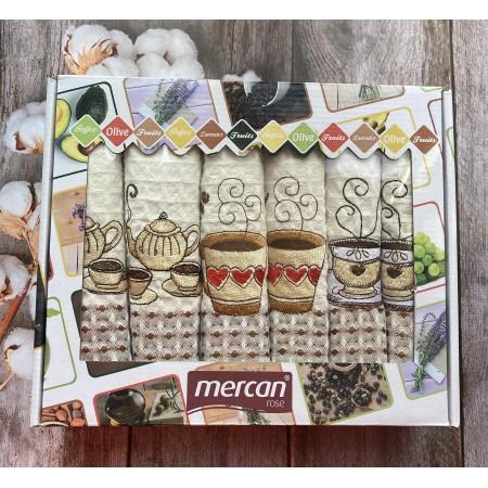 Набор вафельных полотенец Mercan Sweet Coffee 50*70 6 шт