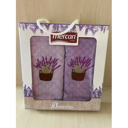 Набор вафельных полотенец Mercan Lavender 45*65 2 шт
