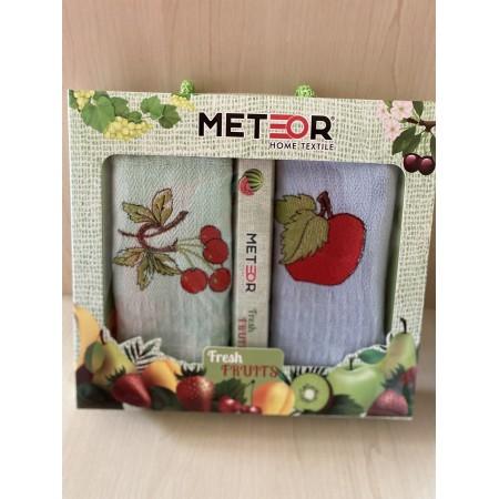 Набор вафельных полотенец Mercan Fresh Fruits 45*65 2 шт