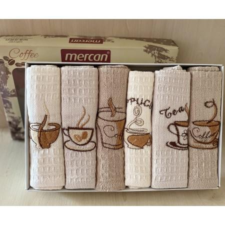 Набор вафельных полотенец Mercan Hot Drinks 45*65 6 шт