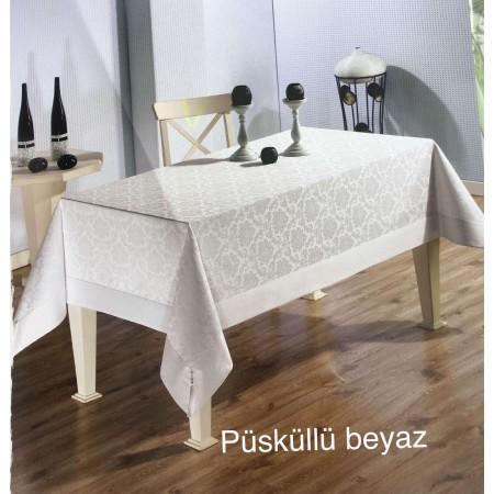 Скатерть Tabe Collection Püsküllü beyaz