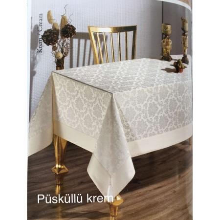 Скатерть Tabe Collection Püsküllü krem