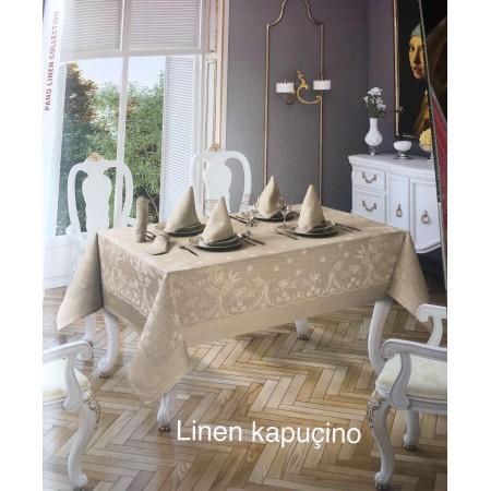 Скатерть Tabe Collection + салфетки 6 шт Linen kapucino
