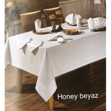 Скатерть Tabe Collection + салфетки 8 шт Honey beyaz